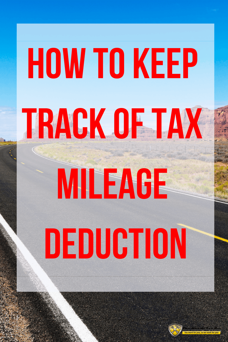 How to keep track of tax mileage deduction with highway road. #taxtips