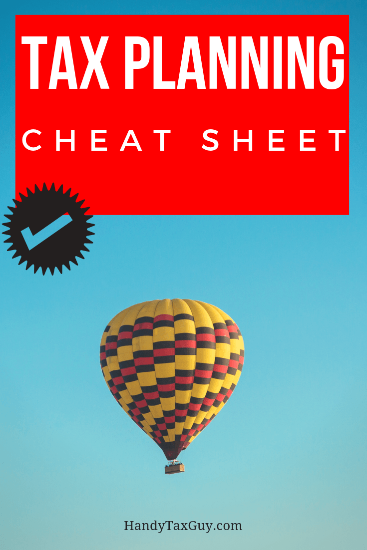 Tax Planning Tax Season Tips. Hot air balloon for #taxtips
