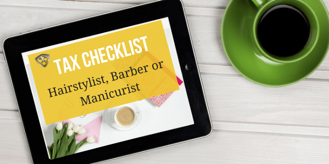 Tax Deduction for Barbers and Checklist Stylist