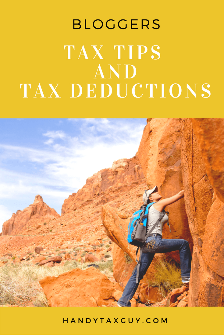 Tax tips and tax deductions for bloggers. #taxtips