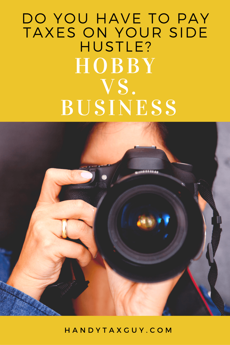 Is it a hobby or business? You may have to pay taxes. Photographer taking photo with digital camera.