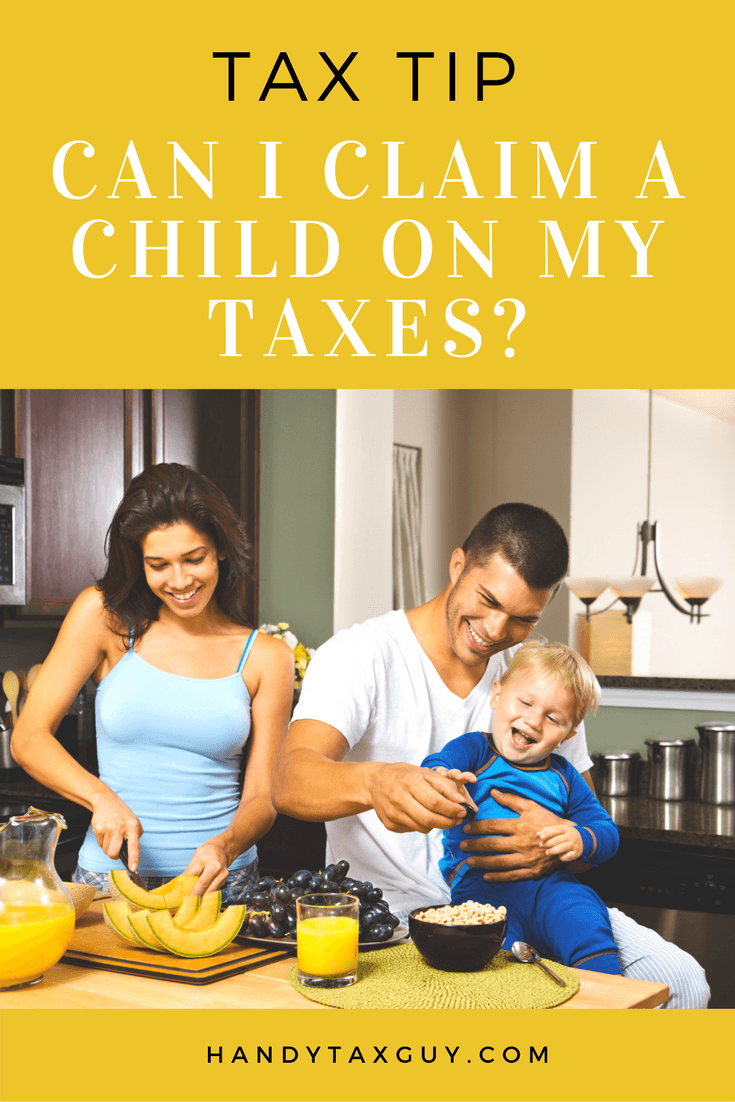 Claiming a child as dependent on taxes.