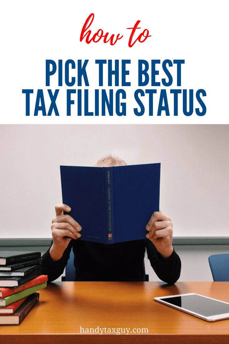 How to choose the best tax filing status. Lots of books to choose from when researching.