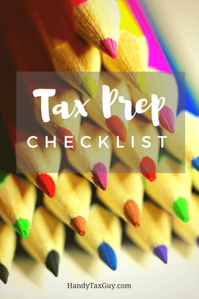 Colorful rainbow pencils ready to help you with your tax preparation checklist for 2020.