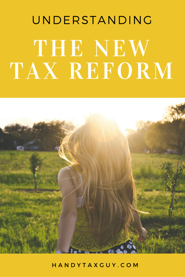 understanding new tax law and reform with lady running in the fields.