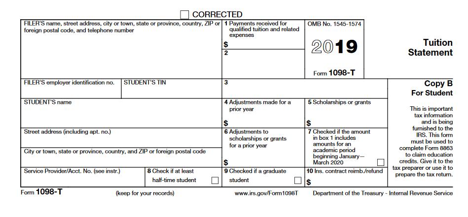 1098T Tax Form 2019
