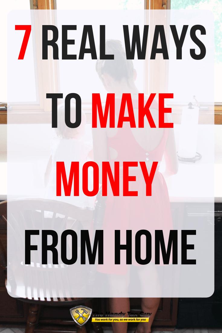 Make money from home. Money tips for moms.