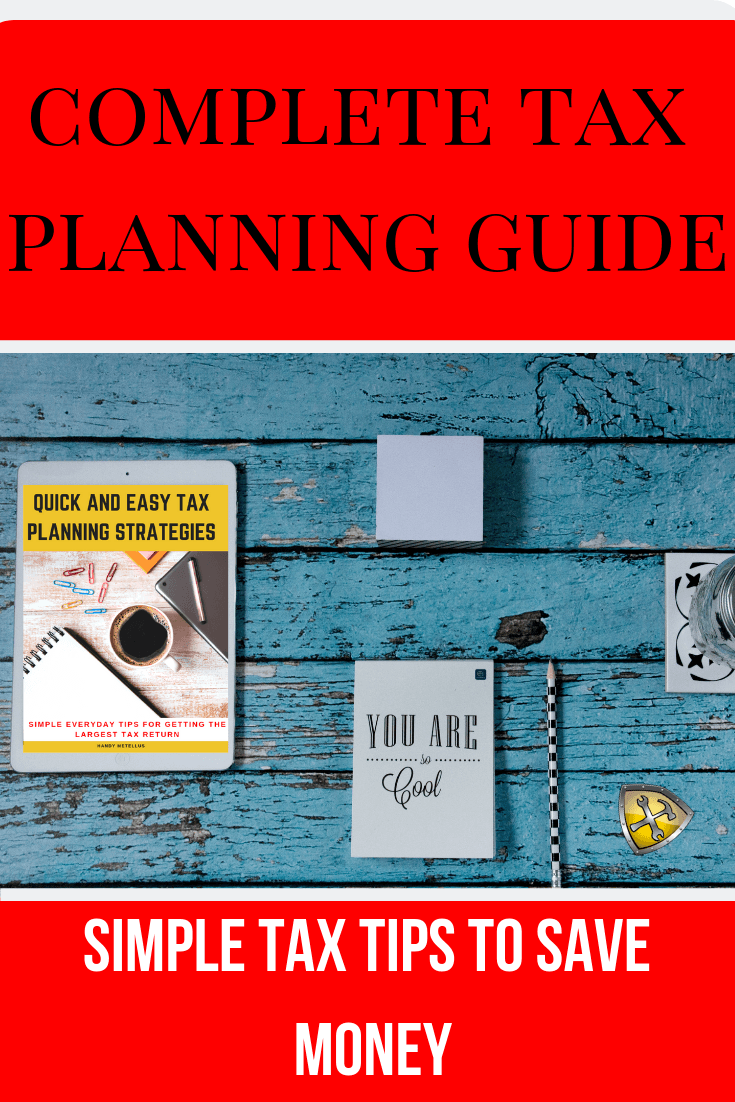 Tax Planning Tips and Guide for ipad on table. #taxes #taxplanning