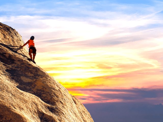 How to get out of debt fast. Climb the mountain of debt and win! #debtfree #daveramsey