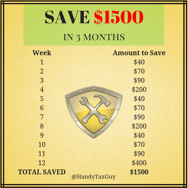 Save 1500 in 3 months #savemoney #moneytips