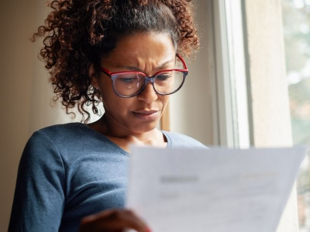 Woman worried about Tax Identity Theft