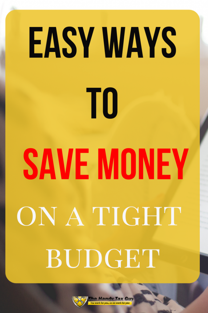 Easy ways to save money on a tight budget. #savemoney