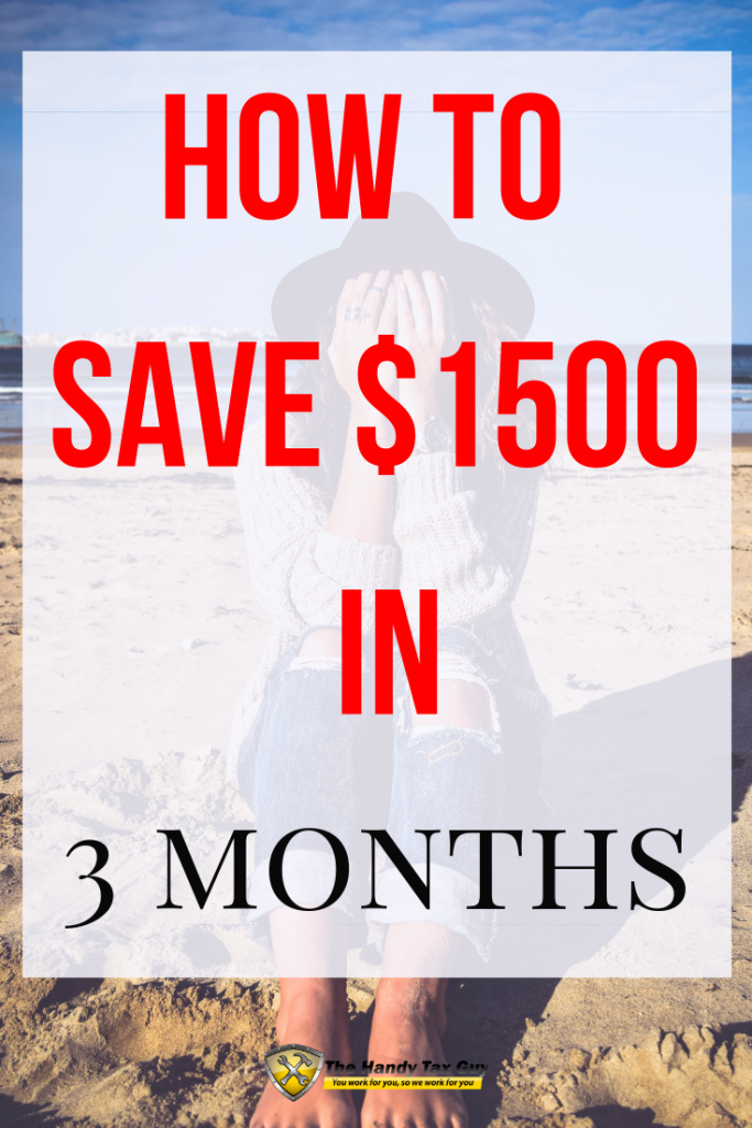 A lady with feet in the sand thiniking about how to save money for vacation in 3 months. #savemoney #vacationplanning