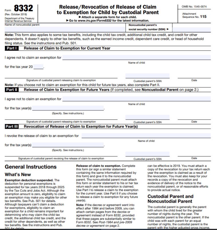 IRS Form 8332