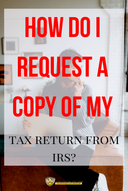 How do I request tax return from IRS using Form 4506 T with lady on computer