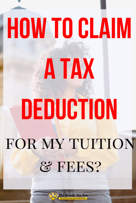 How to claim a tax deduction for college tuition with IRS form 8917 with woman in front of class