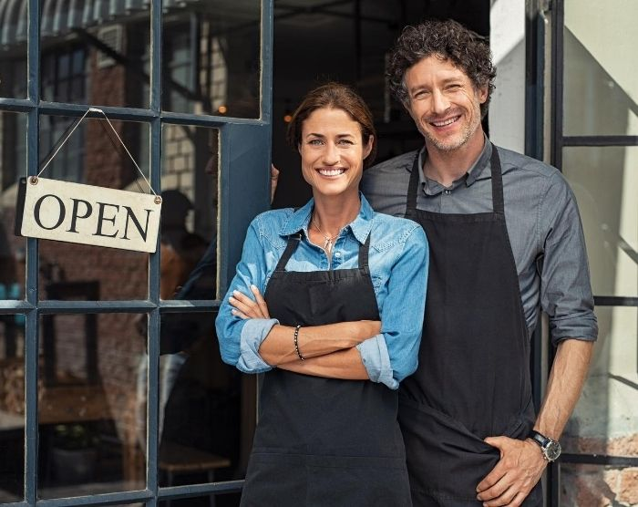IRS form 8832 with couple open for business