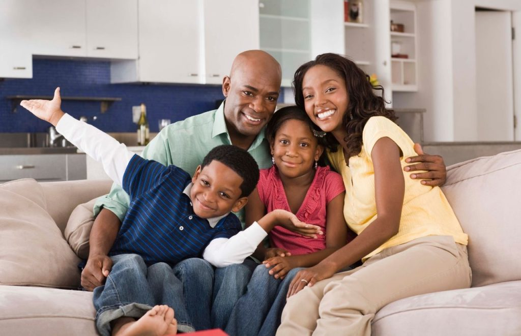 Child Tax Credit with happy black family